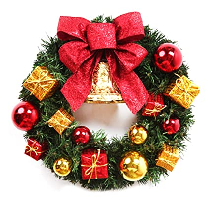 Amazon.com: DayCount 12-Inch Christmas Wreath with Bell and ...