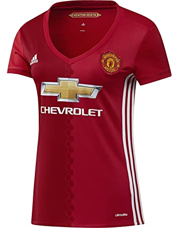 adidas Women s Manchester United 16 17 Home Real Red White Jersey 7bdfb5533