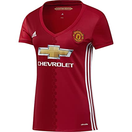 Amazon.com   adidas Women s Manchester United 16 17 Home Real Red ... 7c8039dc0d