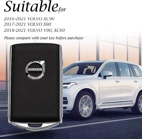 Luxury Aircraft Aluminum smart car Key Fob case Cover For Volvo XC60 XC90 S90 V90 T5 T6 T8 S901 black Royalfox TM