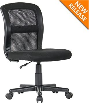 Amazon Com Yamasoro Mesh Office Chair Mid Back Swivel Computer Task Chairs Without Arms And Adjustable Seat Height For Home Office Conference Room Black Furniture Decor