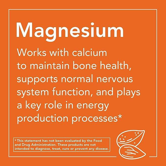 Now Foods | Citrato de magnesio | 200 mg | 250 comprimidos | sin gluten y soja