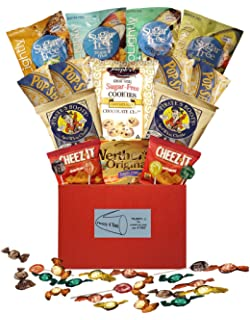 Organic stores gift baskets simply sugar free gift basket amazon plenty 4 you ultimate sugar free guilt free movie night red gift box negle Choice Image