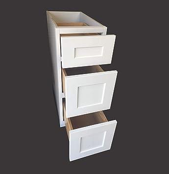 18 W X 21 D 3 Drawers White Shaker Bathroom Vanity Base Cabinet Ws Vdb1821 Amazon Com