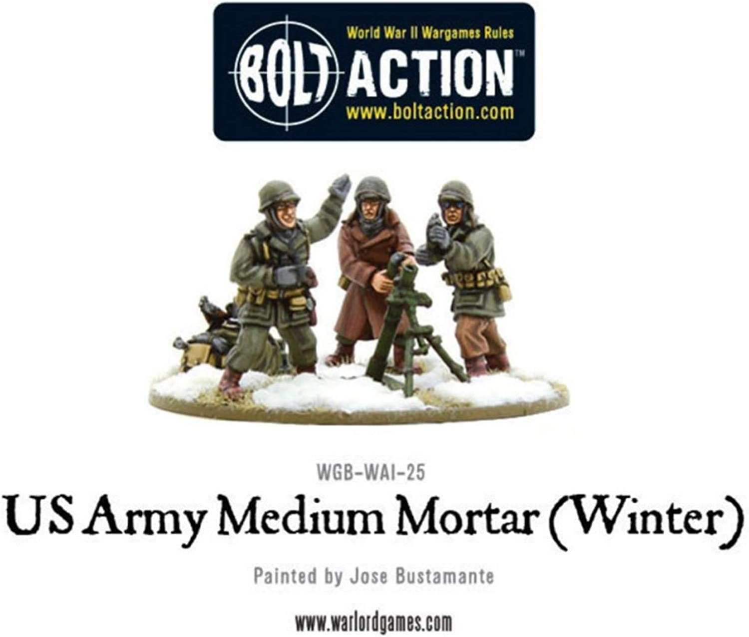 US Army MMG team - 28mm Bolt Action Wargaming Miniatures Warlord Games Winter