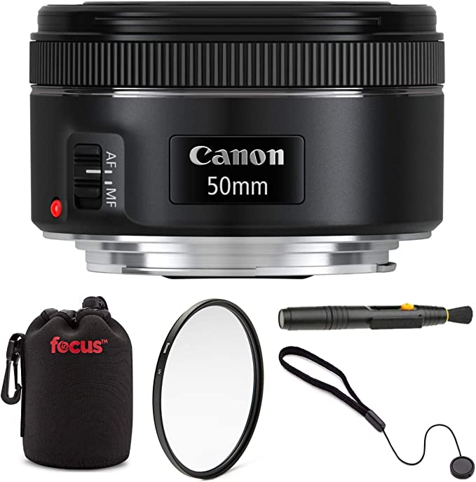 Canon Ef 50mm F 1 8 Stm Standard Prime Lens With Essentials Bundle Including 49mm Uv Filter Padded Lens Pouch Lens Cap Keeper And Lens Cleaning Pen Camera Photo Amazon Com