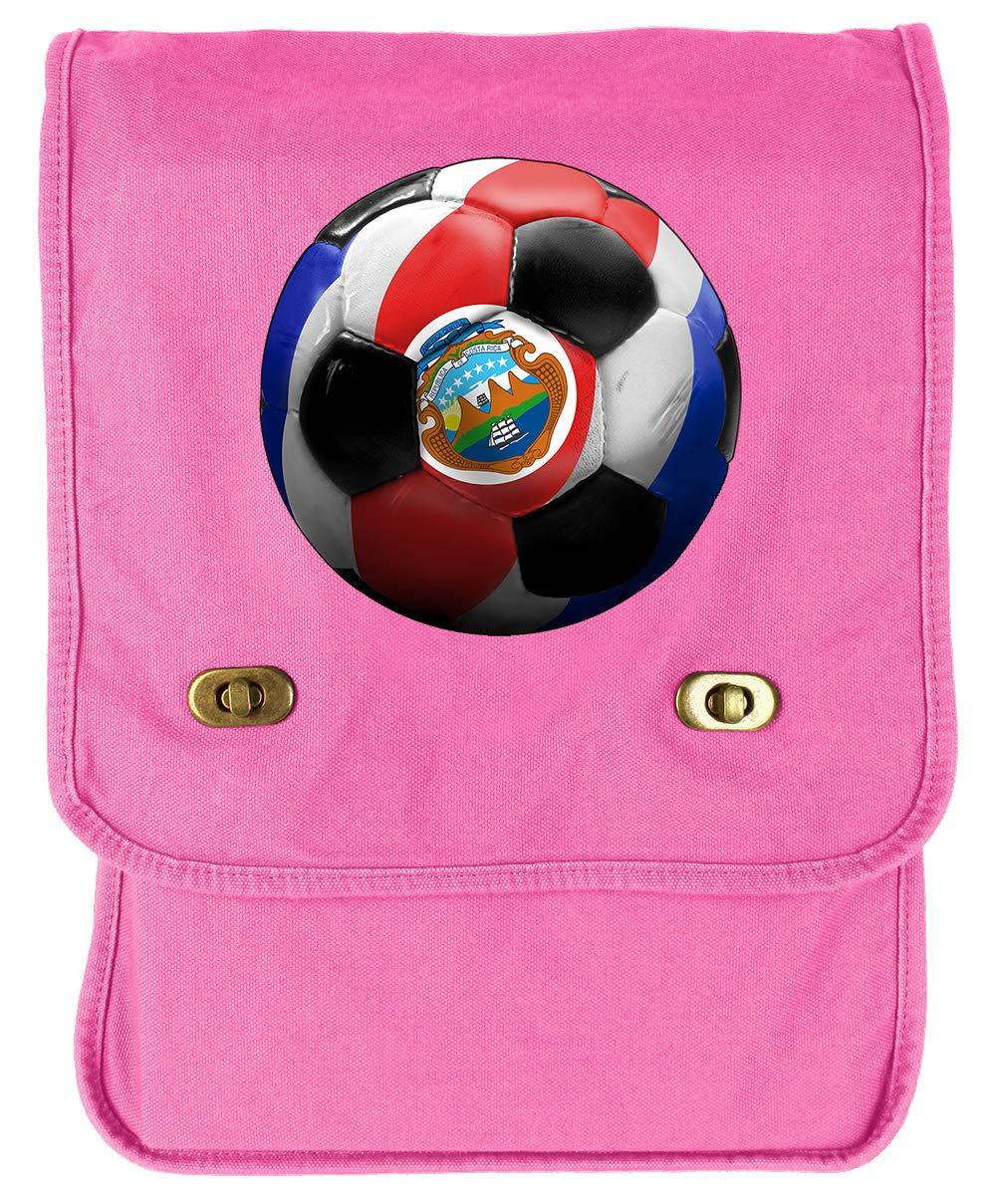 Tenacitee Costa Rica Soccer Navy Brushed Canvas Messenger Bag