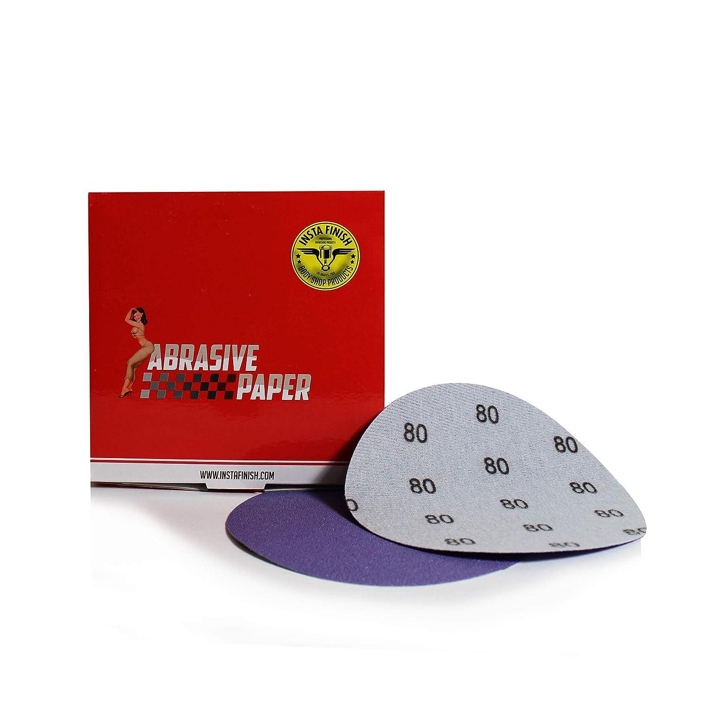 50 Discs Insta Finish Sanding Discs DA 80 Grit Hook /& Loop