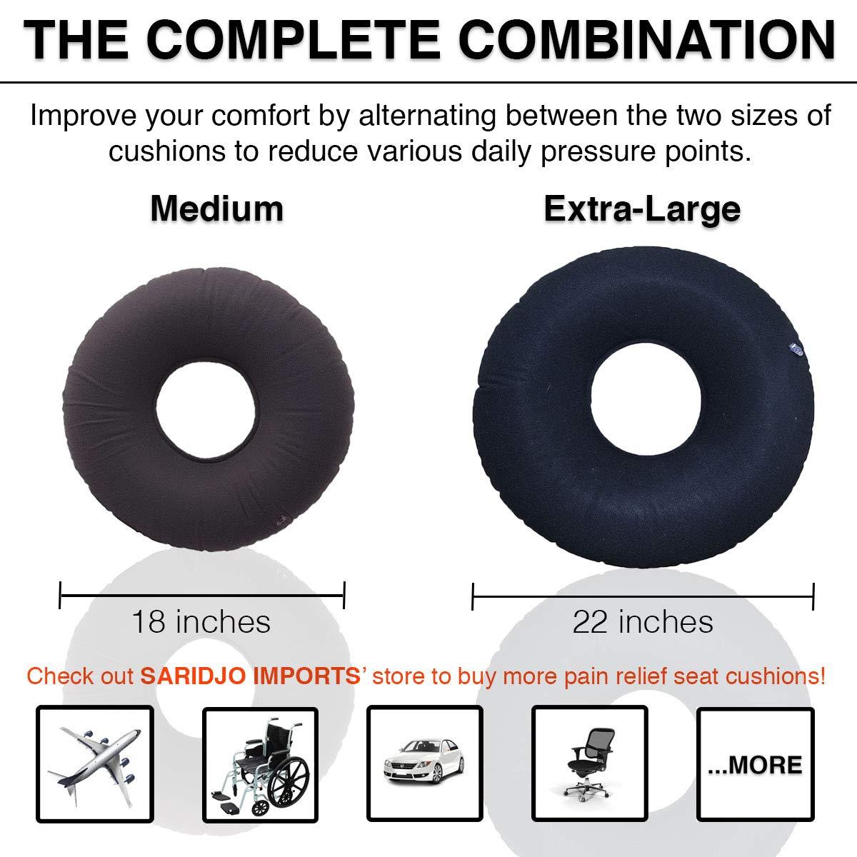 "Amazon.com: saridjo® Donut Anillo 18"" Cojín Almohada ..."