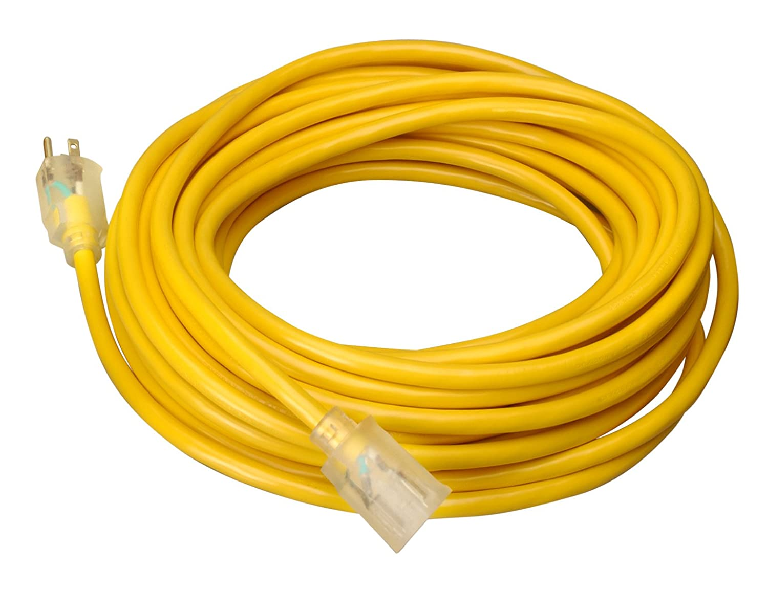 Coleman Cable 02689 10/3 Vinyl Outdoor Extension Cord with Lighted ...