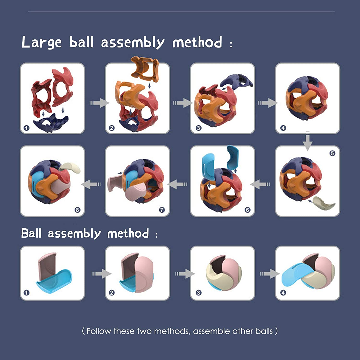 3D Puzzle Ball Games for Kids Bank I Baby Ball Toy Puzzle for Kid I Plastic Balls for Kids Puzzle I 3D Puzzle for Kids Money Bank,Assembly Building Blocks Educational Toys for Kids 3-6 Teasers Toys