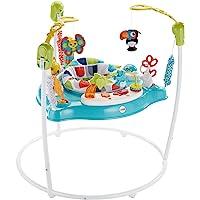 Fisher-Price Columpio Amigos del Safari con música y sonidos en inglés para bebés (Mattel GWD42)