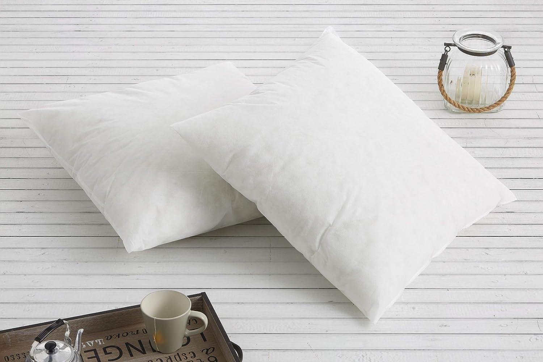 Textilhome - Pack 2 Relleno de Cojín 45x45cm / Poliéster 100% - Fibra Hueca siriconada de Gran Densidad.