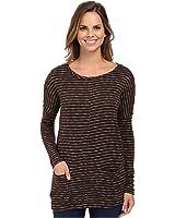 Mod-o-doc Womens Mini Stripe Sweater Seamed Boxy Pullover