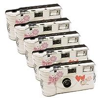 5 x PHOTO PORST alto tempo con farfalla/monouso per macchina fotografica/fotocamera Party (per 27 fotografie, con flash, 5-pezzi)