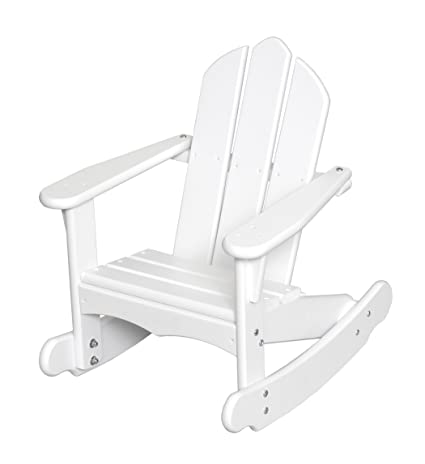 Amazon.com: Little Colorado Childu0027s Adirondack Rocking Chair  White: Toys U0026  Games