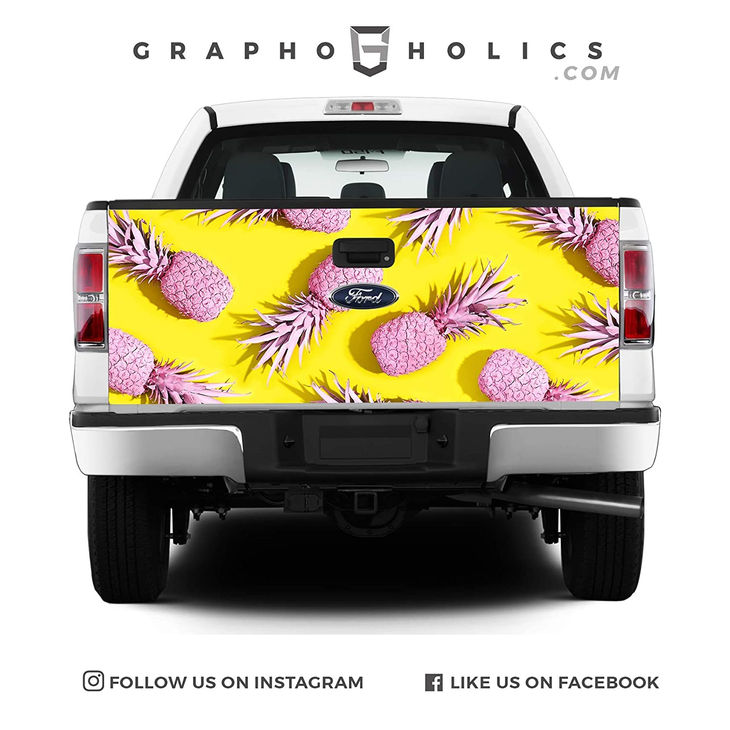 Pink Pineapple Pick-Up Truck Tailgate Wraps