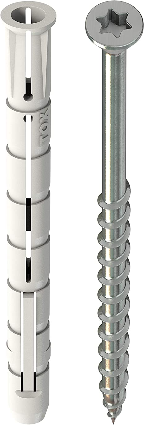 10 St/ück TOX Allzweck Parallel-Spreizd/übel Altbaujoker 10 x 90 mm 10x90 mm 009101271 Grau