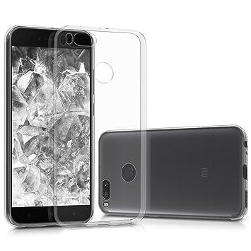 kwmobile Funda compatible con Xiaomi Mi 5X / Mi A1 - Carcasa de [TPU] para móvil - Cover [trasero] en [transparente]