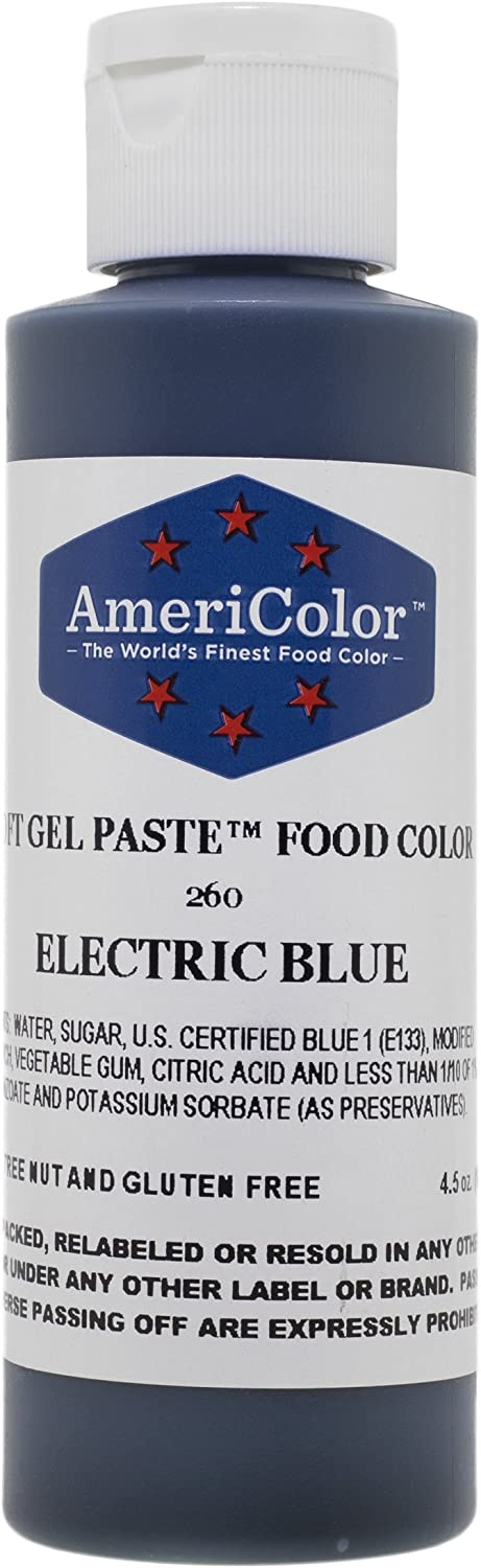 Americolor Soft Gel Paste Food Color, 4.5-Ounce, Electric Blue