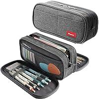 Large Pencil Case Big Capacity Pencil Bag Large Storage Pouch 3 Compartments Desk Organizer Marker Pen Case Simple…