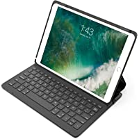 """Inateck Ultraleichte Bluetooth Tastatur für 10,5"""" iPad Pro, Schutzhülle mit Smart Power Schalter, Winkelverstellbar, QWERTZ Deutsches Tastatur-Layout, Schwarz (BK2005)"""