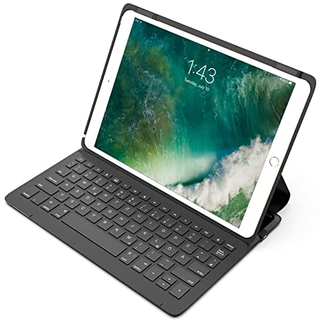 """Inateck Ultraleichte Tastatur Hülle kompatibel mit 10,5"""" iPad Pro und 10.5"""" New iPad Air, Schutzhülle mit Smart Power Schalte"""