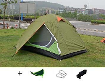 Luxetempo 2 Person Lightweight C&ing and Backpacking Tent with UV coating- 2 Doors 2 Vestibules & Amazon.com : Luxetempo 2 Person Lightweight Camping and ...