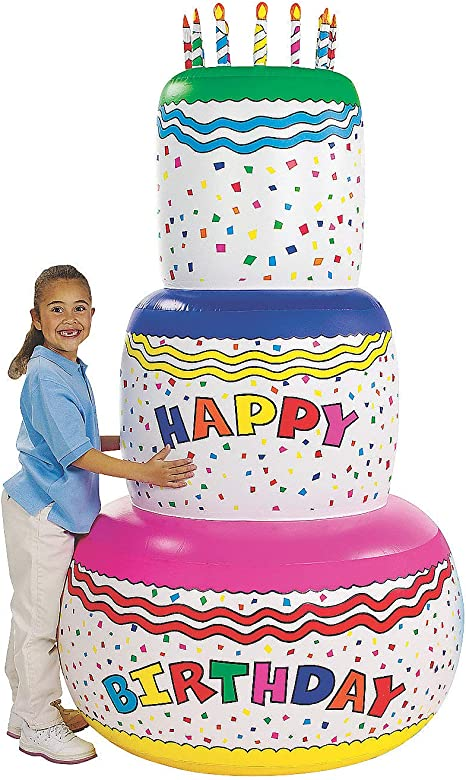 Pleasing Jumbo Happy Birthday Inflatable Birthday Cake Party Decoration Funny Birthday Cards Online Chimdamsfinfo