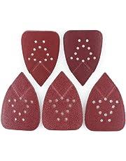LotFancy Sanding Sheets 60 80 120 150 220 Grit Sandpaper Assortment - Hook and Loop Mouse Detail Palm Sander Paper 12 Holes Pack of 50