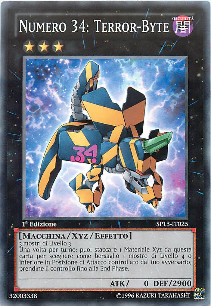 SP13-IT025 Star Pack 2013-1st Edition Comune Yu-Gi-Oh! Numero 34: Terror-Byte