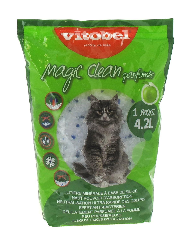 VITAKRAFT arena de sílice Magic Clean perfumada manzana 1mes para gato 4, 2L 30499