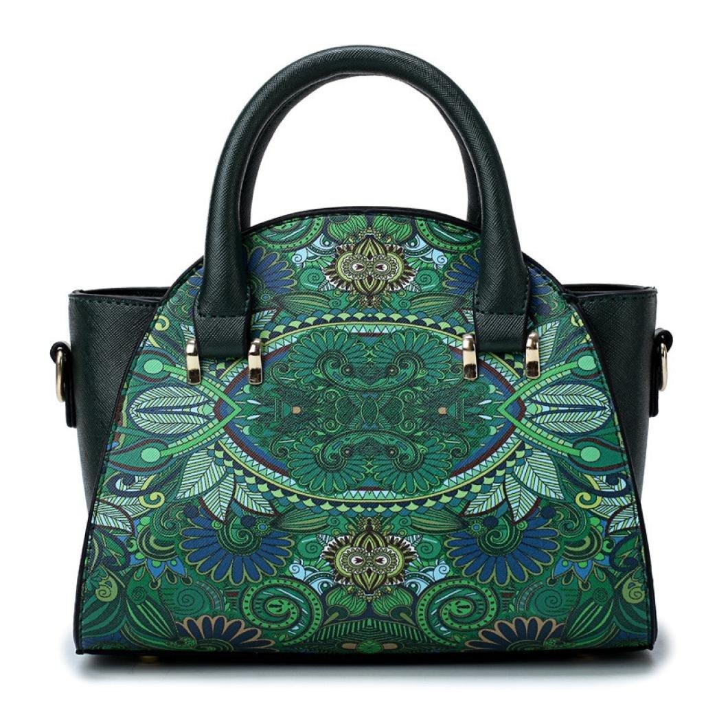 SanCanSn Crossbody Bags, Women Forest Girls Pattern Printing Single Shoulder Bag Handle Zipper Handbag (1PC, Green) by SanCanSn (Image #6)