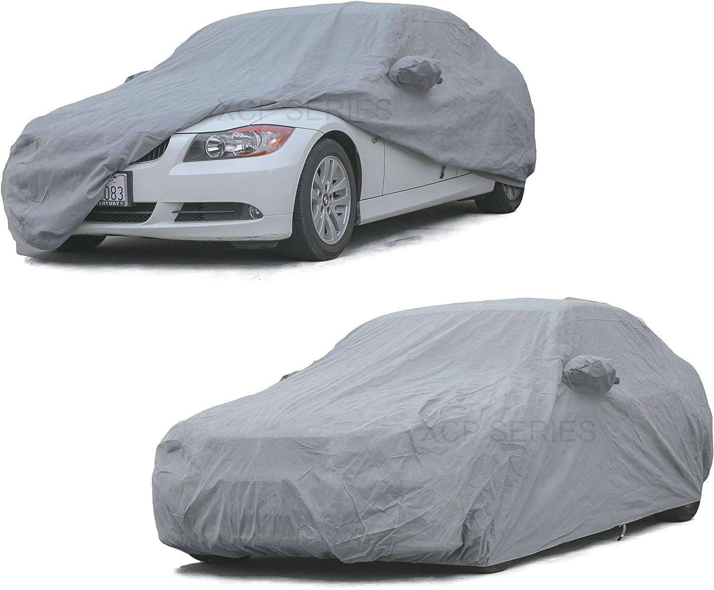 Black 2015 BMW M3 Breathable Car Cover w//Mirror Pockets