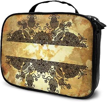 Diseño de Flores sobre Fondo de Grunge Organizador de Maquillaje, Bolsa de Aseo, para Pinceles, Estuche para lápices: Amazon.es: Equipaje
