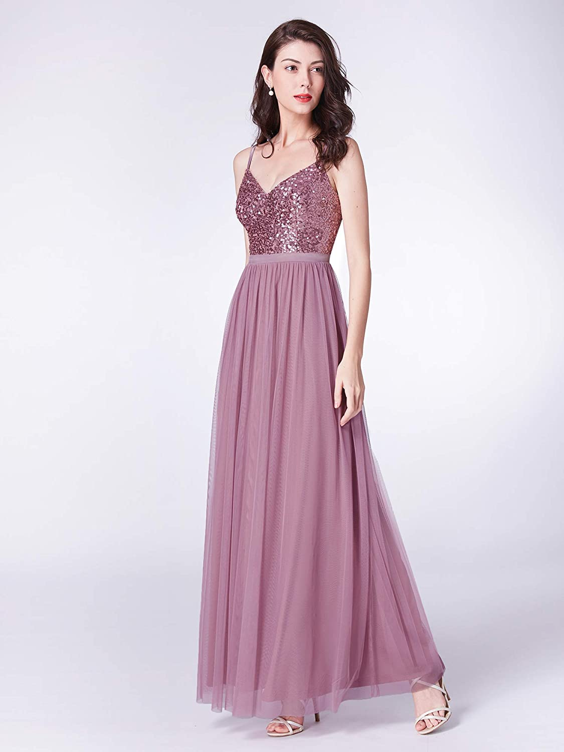 Quality In Ever-pretty Women A-line V-neck Long Prom Gowns Formal Evening Party Dress 07369 Excellent
