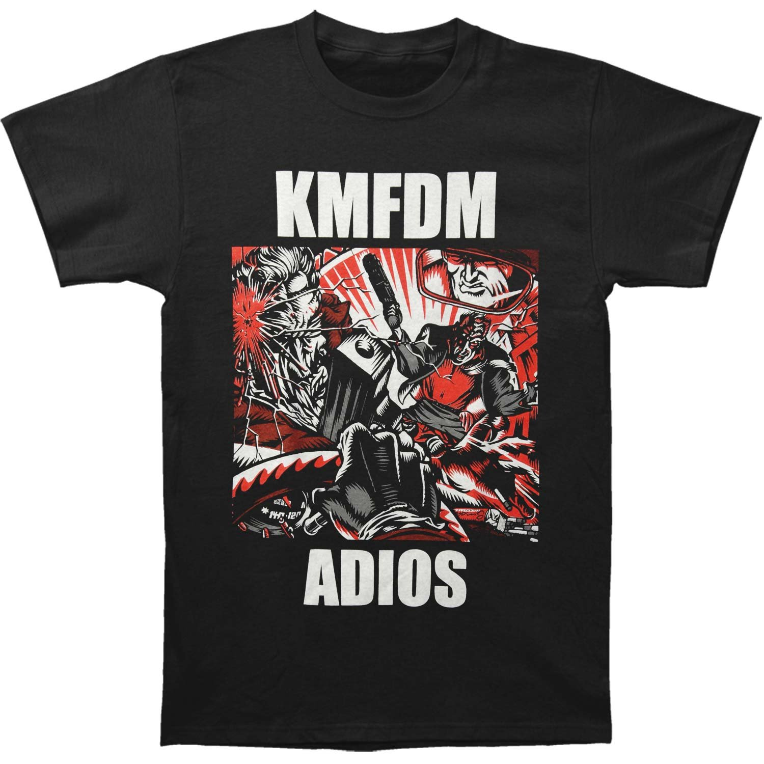 Amazon Kmfdm Mens Adios T Shirt Xx Large Black Clothing