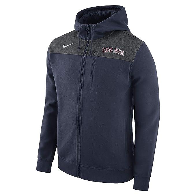 quality design 44ee5 25716 Nike Men's Boston Red Sox Full Zip Fleece Hoodie Navy Size ...