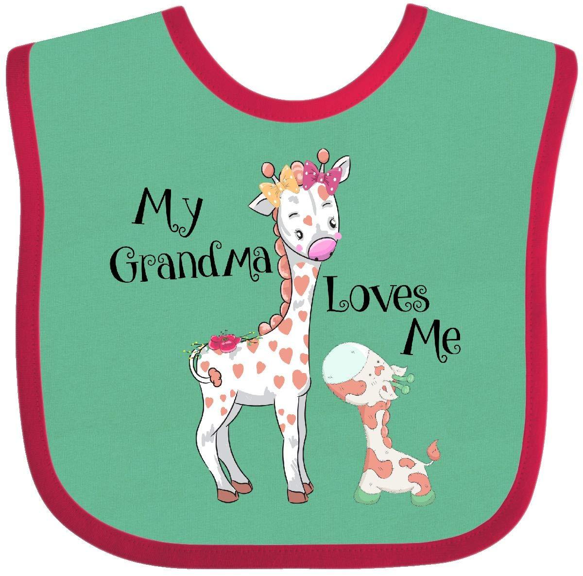 inktastic Grandma Loves Me Girls Giraffe Granddaughter Toddler T-Shirt