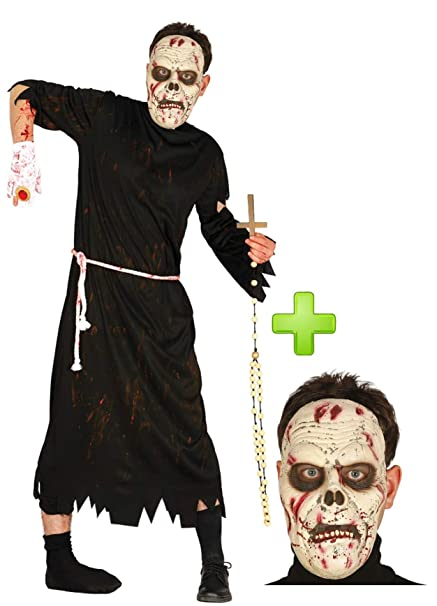 Disfraz de Cura Zombie con mascara: Amazon.es: Ropa y accesorios