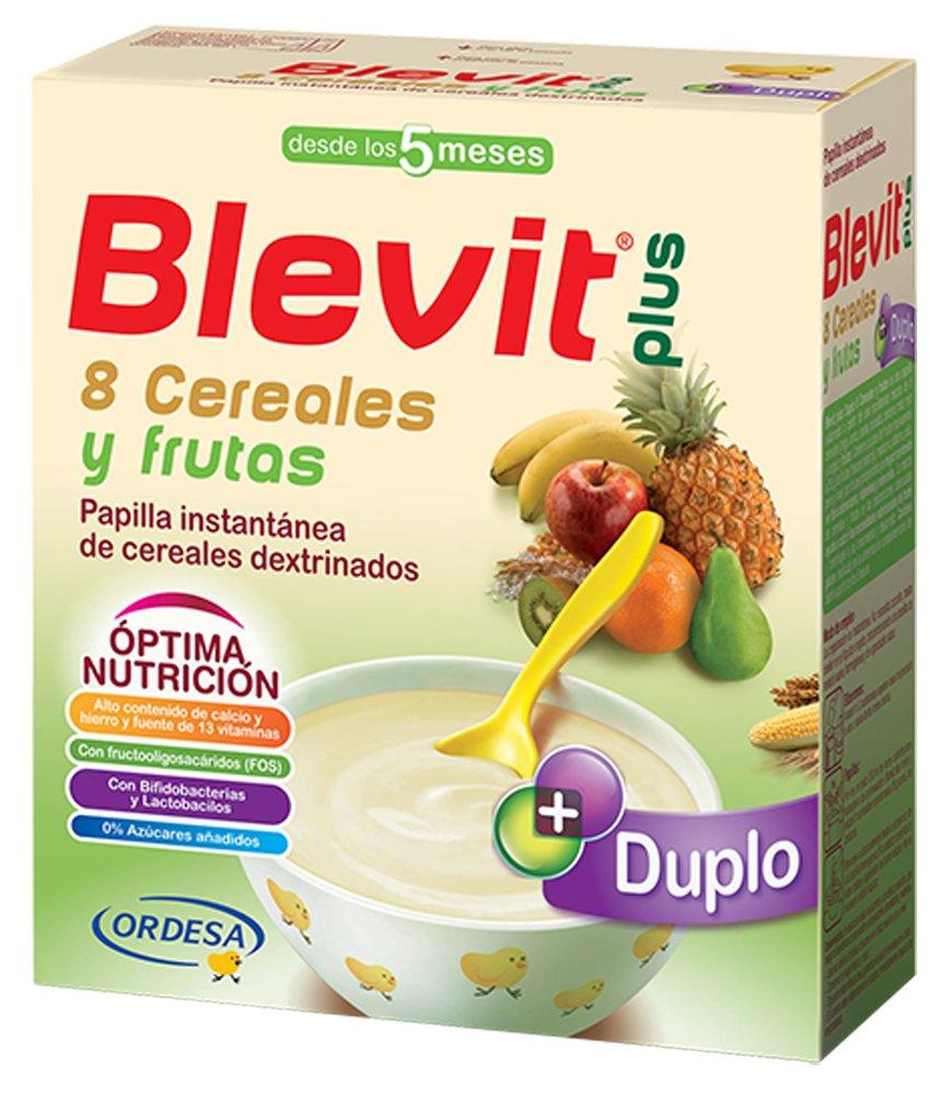 Blevit Plus Duplo 8 Cereales y Frutas - Paquete de 2 x 300 gr - Total: 600 gr: Amazon.es: Amazon Pantry
