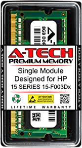 A-Tech 8GB RAM for HP 15 Series 15-F003DX   DDR3 1600MHz SODIMM PC3-12800 204-Pin Non-ECC Memory Upgrade Module