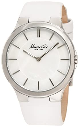Kenneth Cole New York Womens KC2704 Slim Round Analog MOP Dial Thin Watch