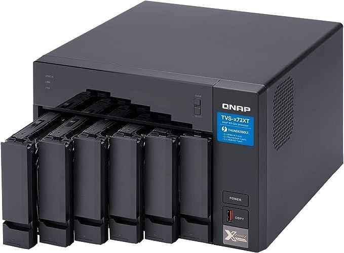 QNAP TVS-672XT Ethernet Torre Negro NAS - Unidad Raid (Unidad de ...