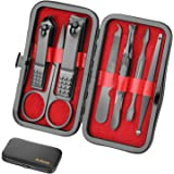 Manicure Set Men Travel Luxury Manicure 8 In 1 Stainless Steel Professional Pedicure Set Travel Grooming kit Men Husband Boyfriend Lover Parents Women Elder Patient Nail Care