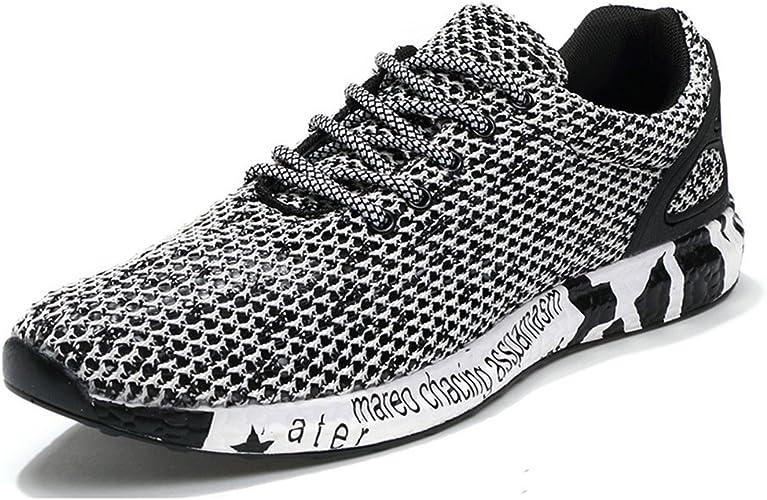 ailishabroy Zapatos Huecos Transpirables de Verano para Hombres ...