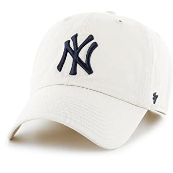 47 MLB New York Yankees Hombres Marca Clean Up Gorra, Natural, Talla única