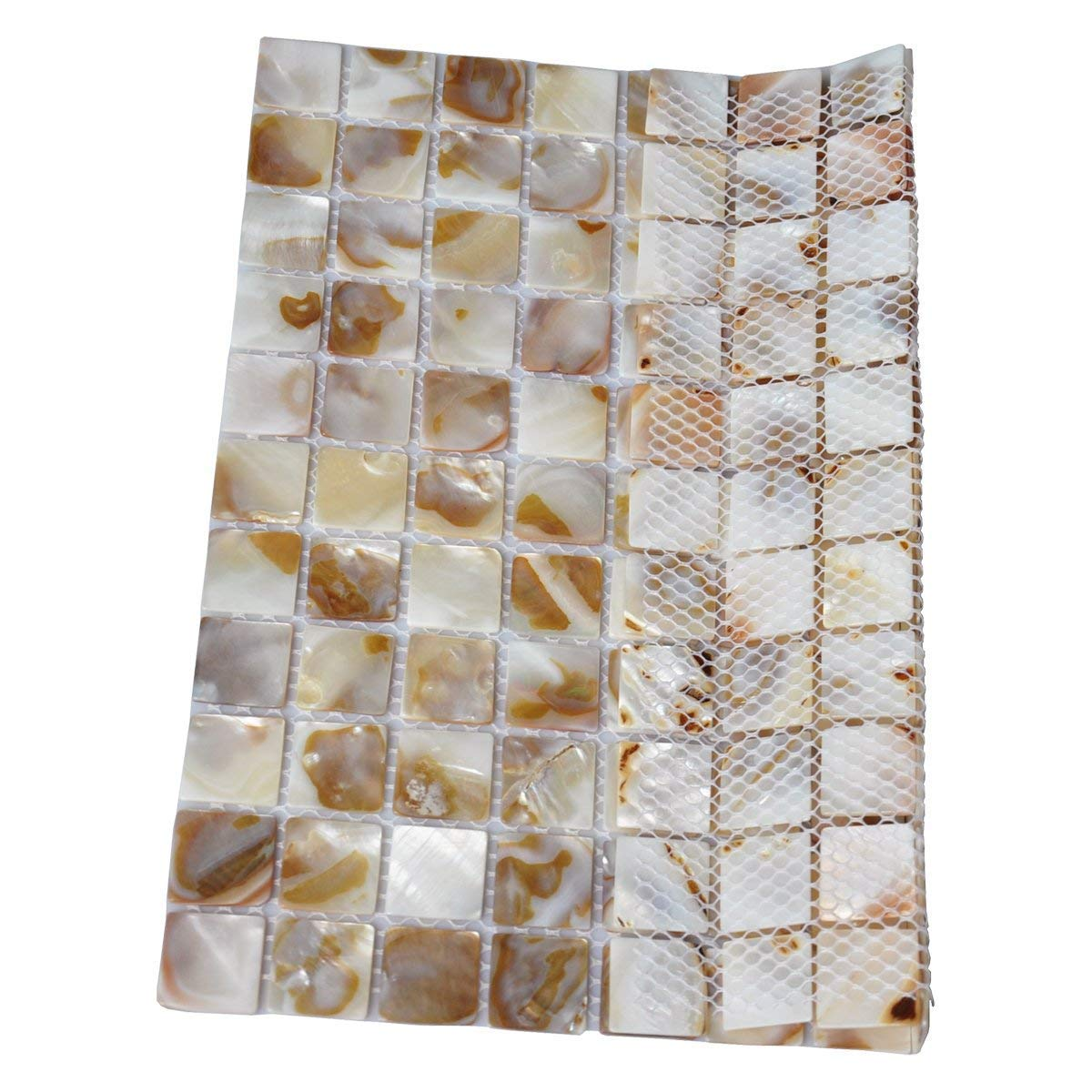 Genuine Mother of Pearl Natural Varied Mini Square Mosaic Tile 12 X 12 Vogue Tile Pack of 5 Sheets