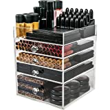N2 Makeup Co Acrylic Makeup Organizer Cube | 4 Drawers Storage Box For Vanity Tables