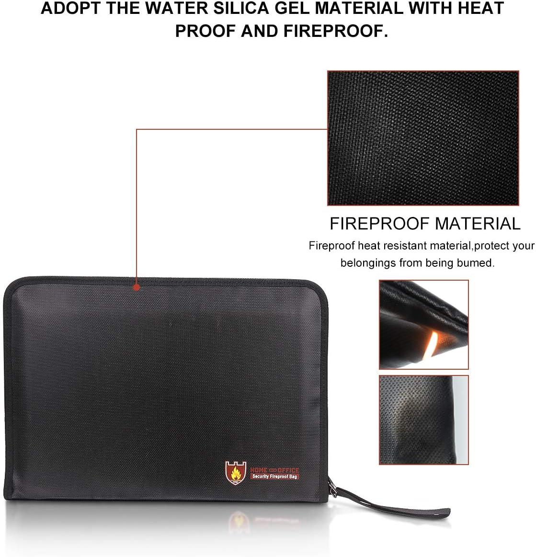 Ritapreaty Borsa documento File Bag ignifugo Fronte-Retro Impermeabile Resistente al Fuoco della File 15/IN11IN